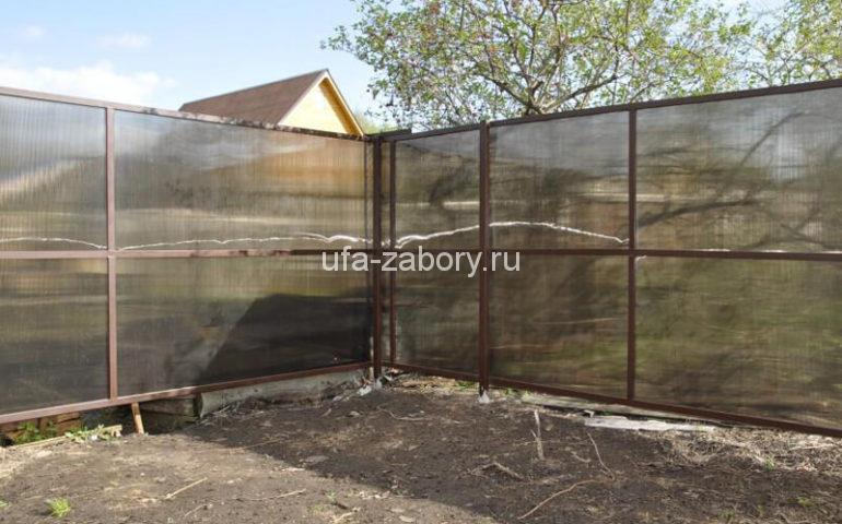 забор из поликарбоната в Уфе
