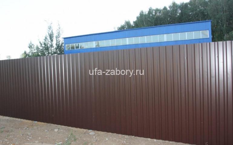 забор из профнастила цена за метр