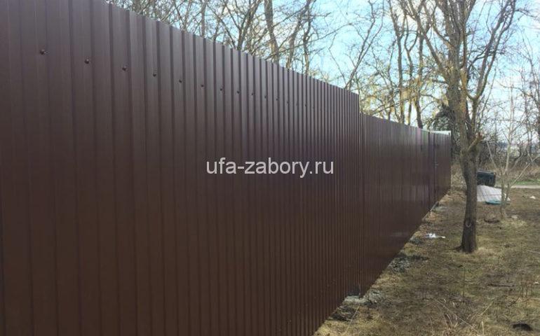 забор из профлиста в Уфе